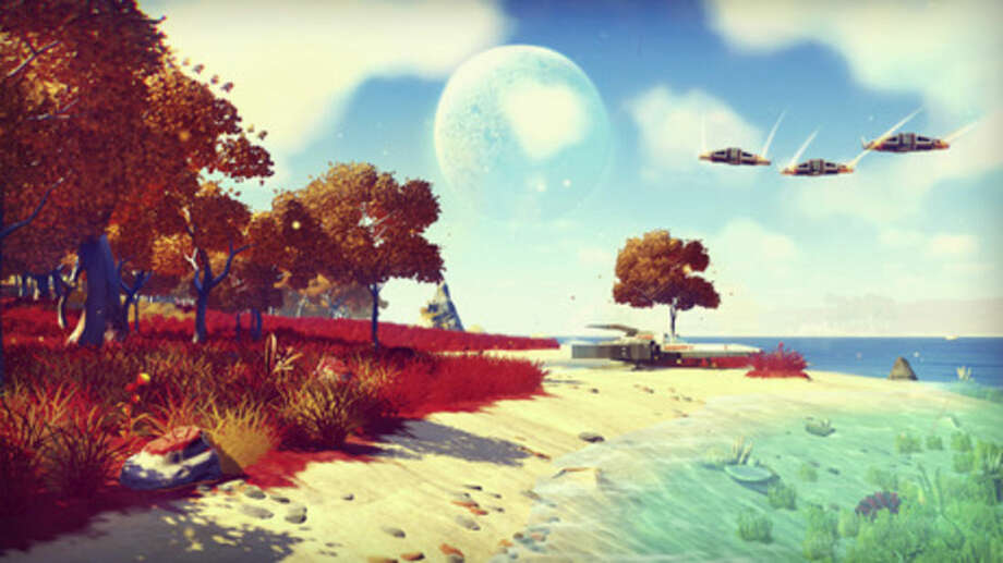 "This photo provided by Hello Games shows a scene from the video game, ""No Man's Sky!."" (AP Photo/Hello Games)"