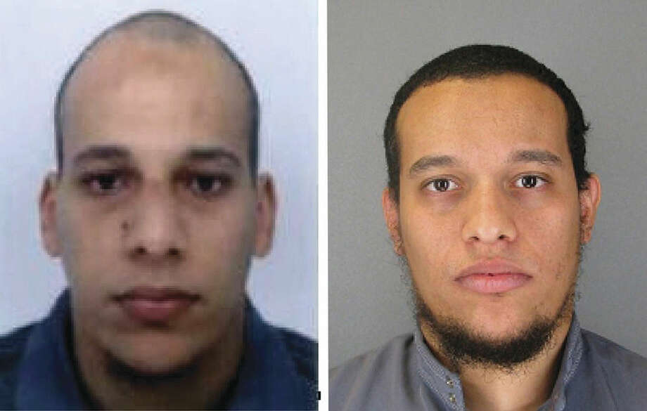 AP Photo/Prefecture de Police de ParisThis photo provided by The Paris Police Prefecture Thursday, Jan. 8, shows the suspects Cherif, left, and Said Kouachi in the newspaper attack along with a plea for witnesses.