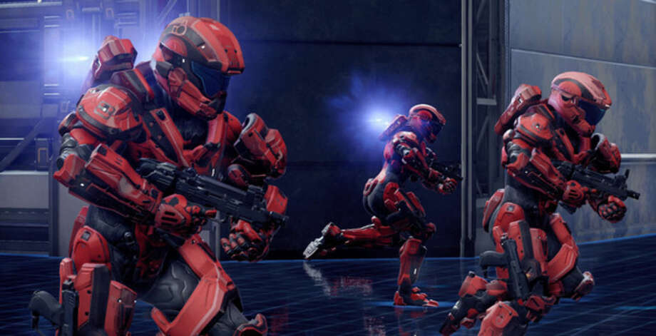 """This photo provided by Microsoft shows a scene from the video game, """"Halo 5."""" (AP Photo/Microsoft)"""