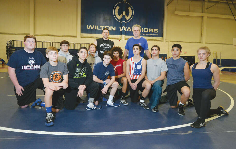 Hour Photo/Alex von Kleydorff Wilton High Schools Wrestling Team