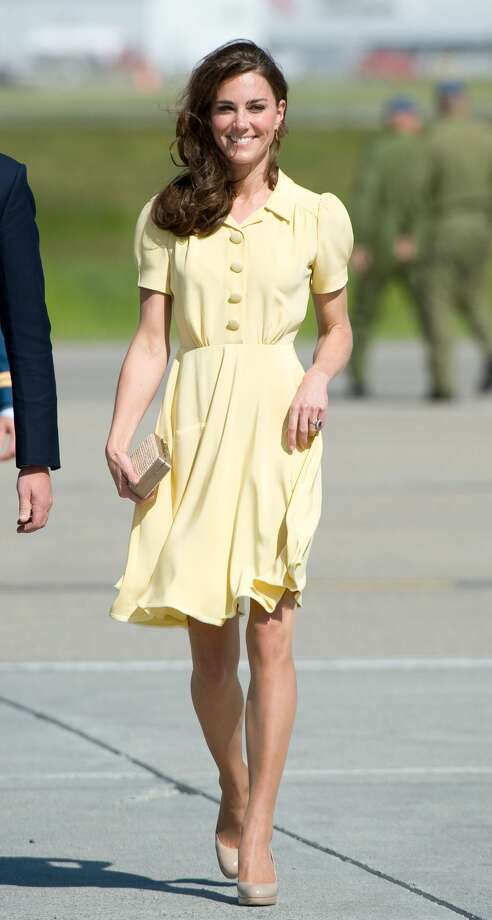 Kate Middleton's best summer look to inspire youPastels of any kind and collars are all the rage right now. Plus look how chic and comfy she looks! Photo: Samir Hussein/WireImage