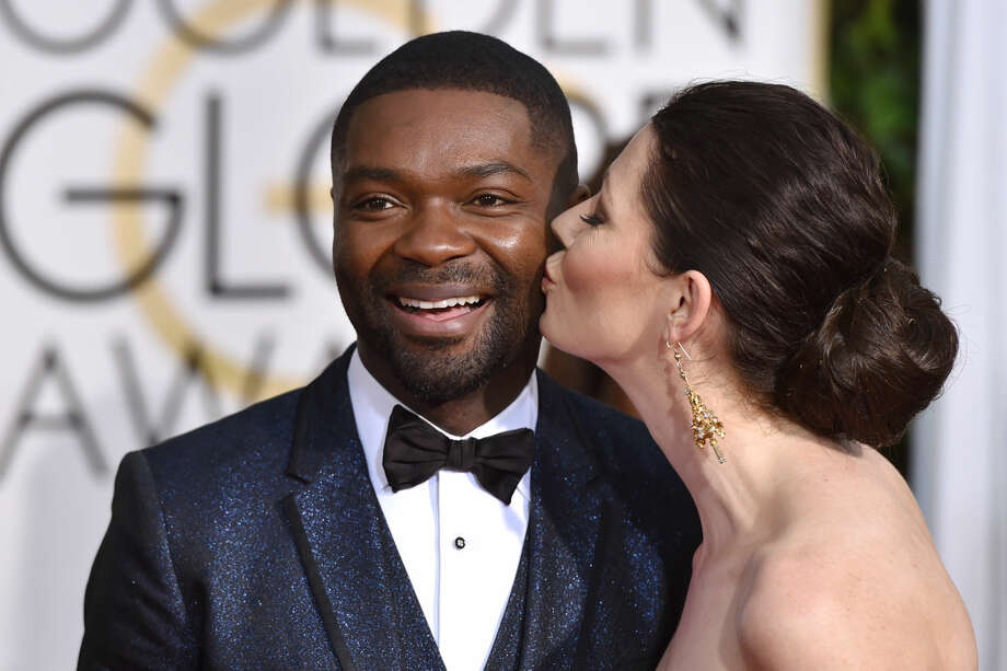 David Oyelowo, left, and Jessica Oyelowo arrive at the 72nd annual Golden Globe Awards at the Beverly Hilton Hotel on Sunday, Jan. 11, 2015, in Beverly Hills, Calif. (Photo by John Shearer/Invision/AP)