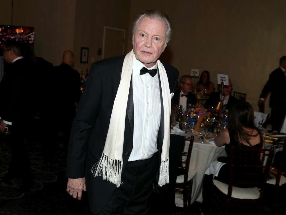 Jon Voight poses in the audience at the 72nd annual Golden Globe Awards at the Beverly Hilton Hotel on Sunday, Jan. 11, 2015, in Beverly Hills, Calif. (Photo by Matt Sayles/Invision/AP)