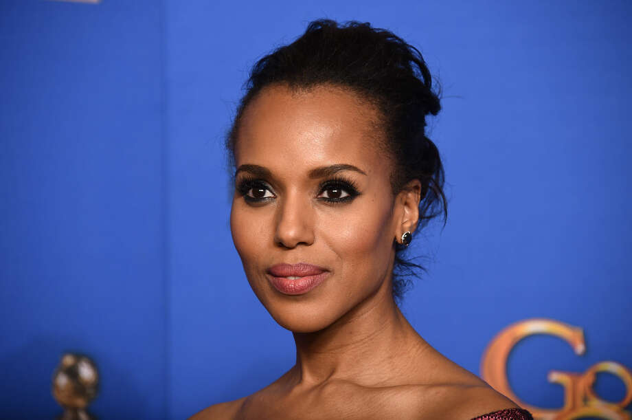 Kerry Washington poses in the press room at the 72nd annual Golden Globe Awards at the Beverly Hilton Hotel on Sunday, Jan. 11, 2015, in Beverly Hills, Calif. (Photo by Jordan Strauss/Invision/AP)