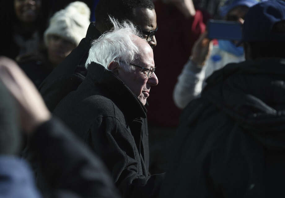 Democratic presidential candidate, Sen. Bernie Sanders, I-Vt, arrives to the King Day at the Dome event celebrating the life of Martin Luther King Jr., Monday, Jan. 18, 2016, in Columbia, S.C. (AP Photo/Rainier Ehrhardt)