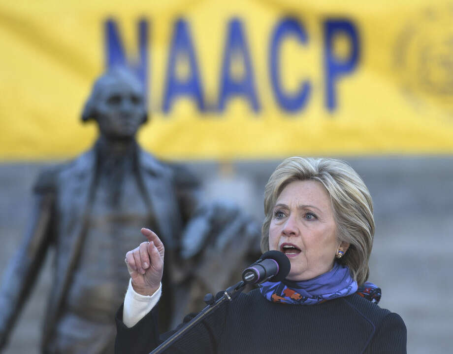 Democratic presidential candidate Hillary Clinton speaks during the King Day at the Dome event celebrating the life of Martin Luther King Jr., Monday, Jan. 18, 2016, in Columbia, S.C. (AP Photo/Rainier Ehrhardt)