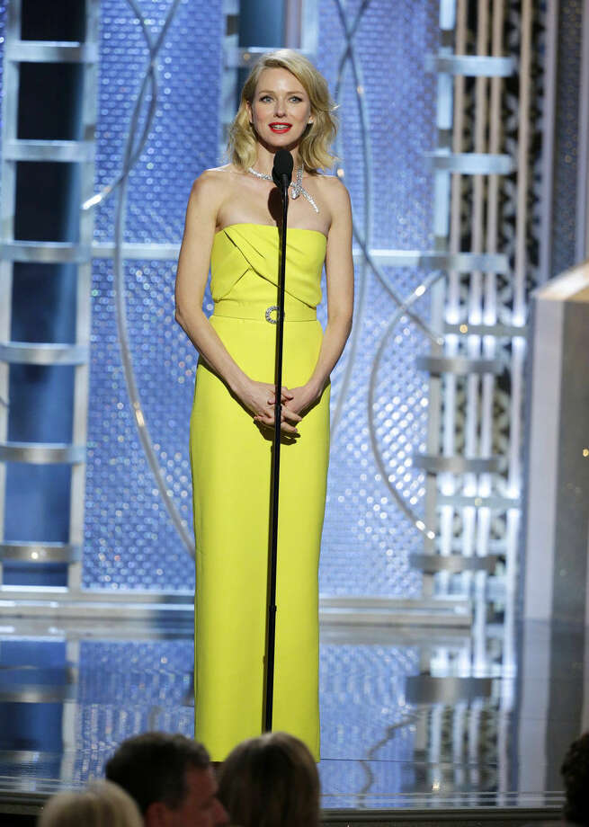 In this image released by NBC, Naomi Watts presents an award at the 72nd Annual Golden Globe Awards on Sunday, Jan. 11, 2015 at the Beverly Hilton Hotel in Beverly Hills, Calif. (AP Photo/NBC, Paul Drinkwater)