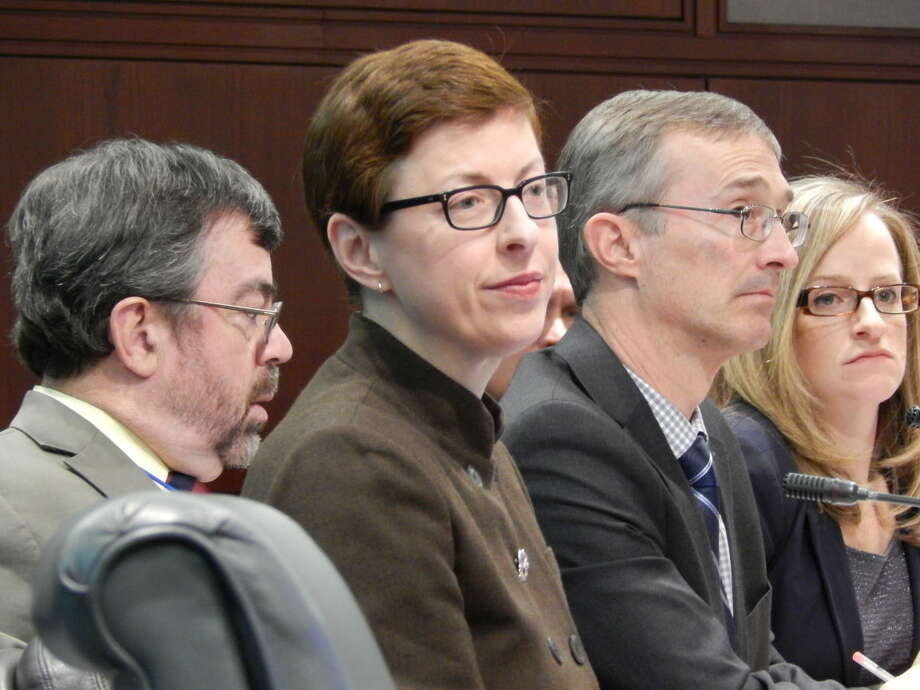 ARIELLE LEVIN BECKER / CTMIRROR.ORGDSS officials, from left, Dr. Robert Zavoski, Kate McEvoy, Mike Gilbert and Melissa Garvin.