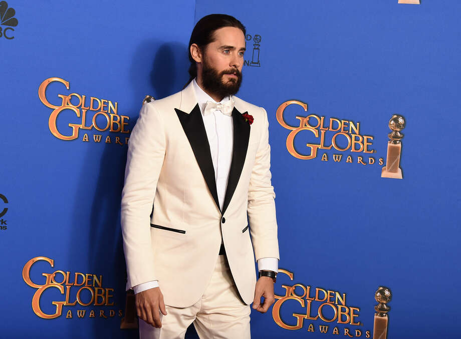 Jared Leto poses in the press room at the 72nd annual Golden Globe Awards at the Beverly Hilton Hotel on Sunday, Jan. 11, 2015, in Beverly Hills, Calif. (Photo by Jordan Strauss/Invision/AP)