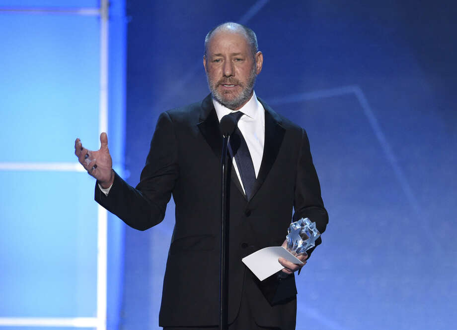 "Steve Golin accepts the award for best picture for ""Spotlight"" at the 21st annual Critics' Choice Awards at the Barker Hangar on Sunday, Jan. 17, 2016, in Santa Monica, Calif. (Photo by Chris Pizzello/Invision/AP)"