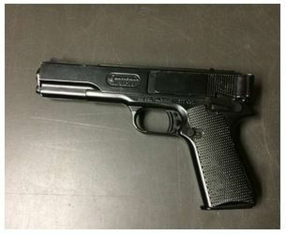 The facsimile firearm allegedly found in possession of Elias Garcia-Ramirez.