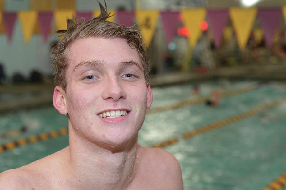 Hour Photo/Alex von Kleydorff Wilton swimmer Robert McDowell