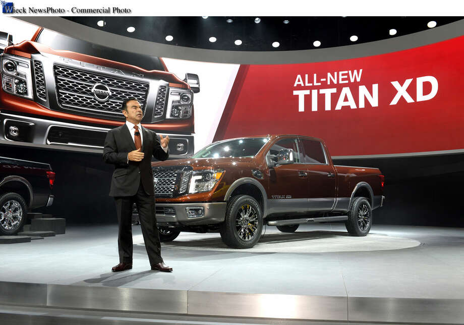 Detroit - January 12, 2015 - Nissan CEO Carlos Ghosn unveiled the all-new 2016 Nissan Titan to media at the North American International Auto Show today. For information contact Dan Bedore at Dan.Bedore@nissan-usa.com.