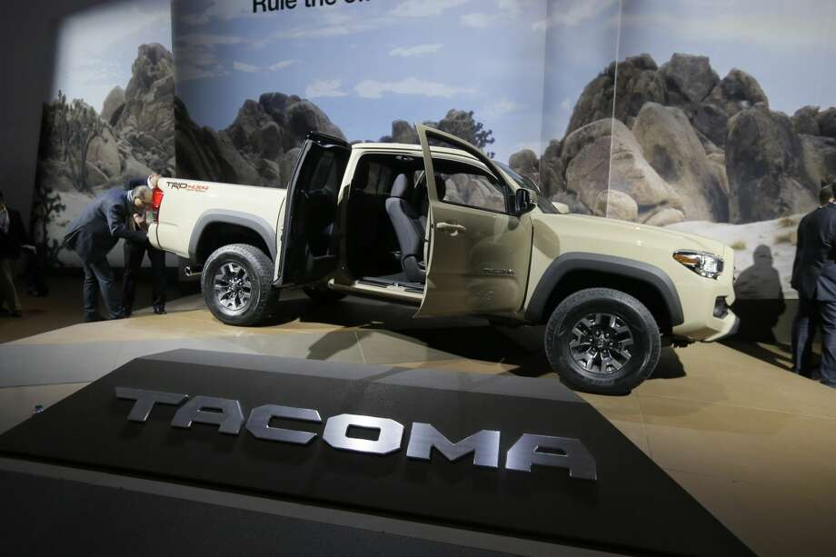 The Toyota Tacoma TRD truck is shown during the North American International Auto Show, Monday, Jan. 12, 2015 in Detroit. (AP Photo/Carlos Osorio)