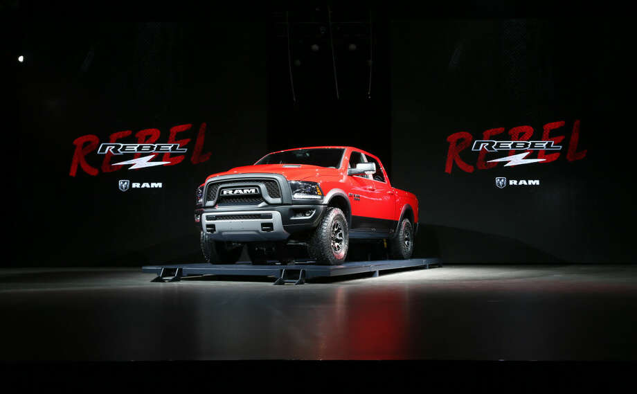 The Ram Rebel debuts at media previews for the North American International Auto Show in Detroit Tuesday, Jan. 13, 2015. (AP Photo/Paul Sancya)