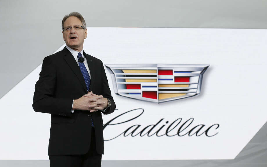 Johan de Nysschen, President, Cadillac, introduces the 2016 CTS-V at media previews for the North American International Auto Show in Detroit Tuesday, Jan. 13, 2015. (AP Photo/Paul Sancya)