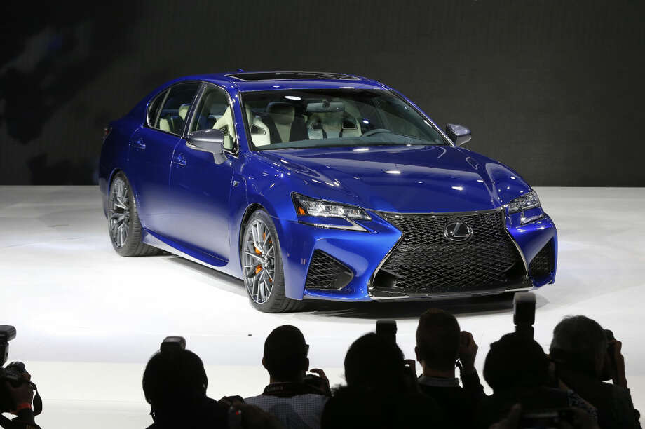 The 2016 Lexus GS F debuts at media previews for the North American International Auto Show in Detroit Tuesday, Jan. 13, 2015. (AP Photo/Paul Sancya)