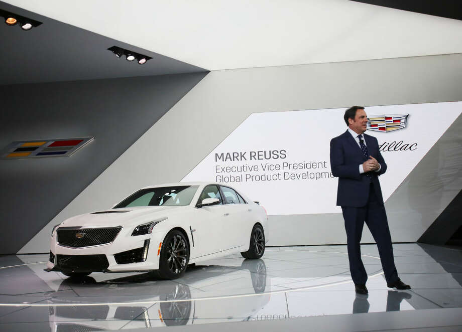 Mark Reuss, Executive Vice-President, Global Product Development, introduces the 2016 Cadillac CTS-V at the North American International Auto Show on Tuesday, Jan. 13, 2015, in Detroit. (AP Photo/Detroit Free Press, Regina H. Boone) DETROIT NEWS OUT; NO SALES