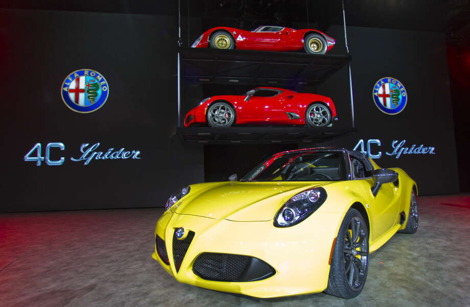 An Alfa Romeo 4C Spider on display at the North American International Auto Show, Monday, Jan. 12, 2015, in Detroit. (AP Photo/Tony Ding)