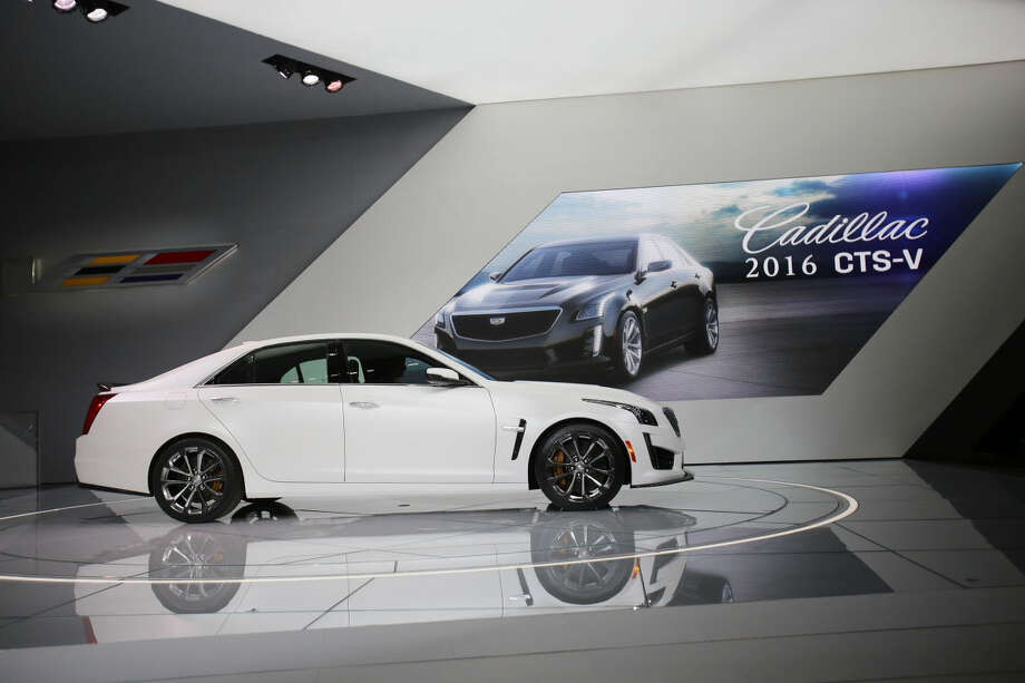 The 2016 Cadillac CTS-V is introduced at the 2015 North American International Auto Show on Tuesday, Jan. 13, 2015, in Detroit. (AP Photo/Detroit Free Press, Regina H. Boone) DETROIT NEWS OUT; NO SALES