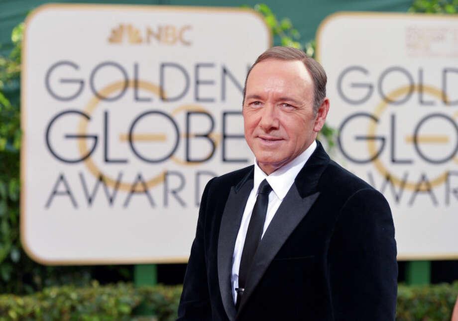 Kevin Spacey arrives at the 71st annual Golden Globe Awards at the Beverly Hilton Hotel on Sunday, Jan. 12, 2014, in Beverly Hills, Calif. (Photo by John Shearer/Invision/AP) / Invision