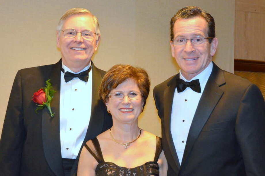 Mayor David Martin, his wife Judy and Gov. Dannel P. Malloy.