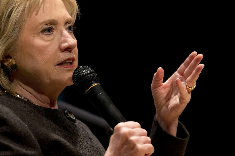 Democratic presidential candidate Hillary Clinton speaks during a campaign event at the Jewish Federation of Greater Des Moines, Monday, Jan. 25, 2016, in Des Moines, Iowa. (AP Photo/Mary Altaffer)