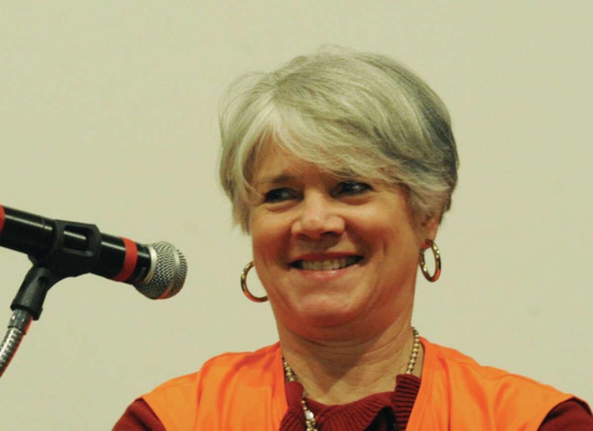 Norwalk Land Trust president, Kathy Siever. Hour photo/Matthew Vinci
