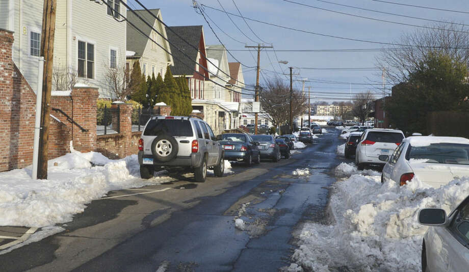 Hour Photo/Alex von KleydorffElizabeth Street In Norwalk was the topic of the Norwalk Traffic Authority on Monday as it pondered a proposal to install parking meters.