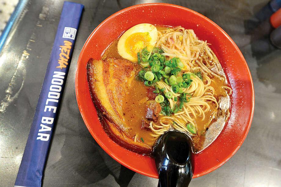 Hour photo / Erik Trautmann Tonkotsu Ramen at the new Mecha Noodle Bar restaurant in SoNo.