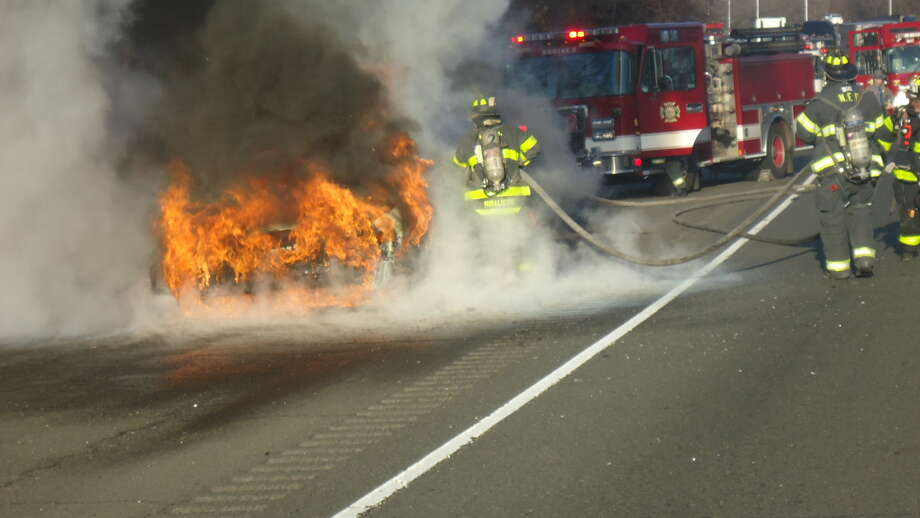Contributed photoA taxi burns on the soutbound side of I 95 at approx 3:30 pm on Thursday