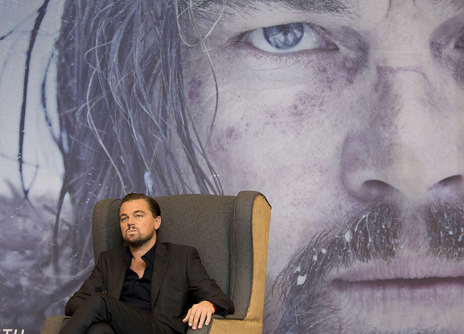 "Actor Leonardo DiCaprio listens to a question during a press event to promote the Alejandro Inarritu's Oscar-nominated ""The Revenant,"" in Mexico City, Tuesday, Jan. 26, 2016. (AP Photo/Rebecca Blackwell)"