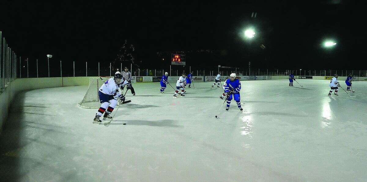 Hour Photo/Alex von Kleydorff. Stamford Co-Op vs North Haven at PAL Ice rink at Longshore