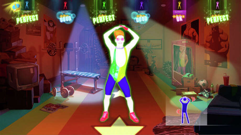 "This photo provided by Ubisoft shows a scene from the video game, ""Just Dance 2014"". The fifth installment in Ubisoft's hyper-colored choreography franchise is more of a dance game than an actual fitness title, though ""Just Dance 2014"" features the return of the series' ""just sweat"" mode, which counts calories as players shake their groove thangs. (AP Photo/Ubisoft) / Ubisoft"