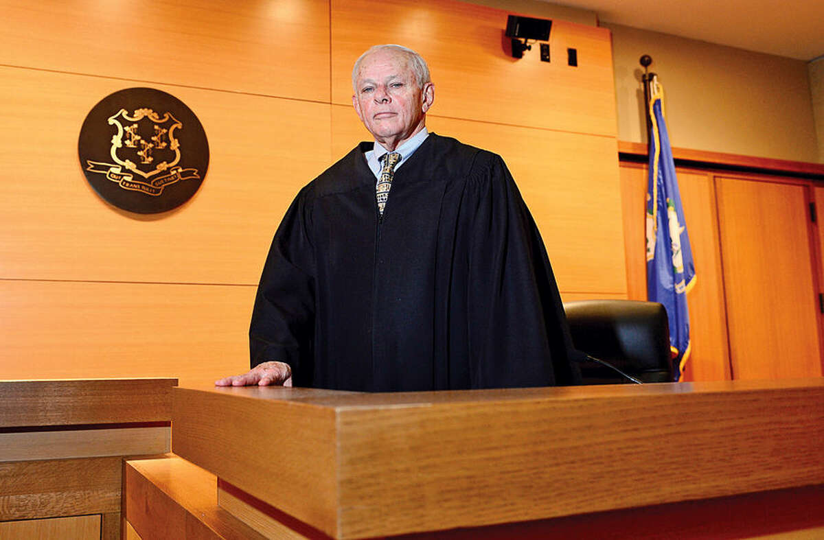Hour photo / Erik Trautmann Hon. Richard F. Comerford Jr., who recently became a senior judge at Stamford Superior Court, will become a Judge Trial Referee on Januray 26th.