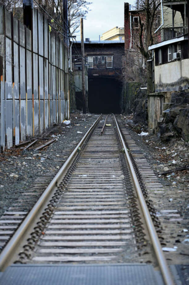 Hour photo / Erik TrautmannConnDOT proposed location for construction over Metro-North railroad.