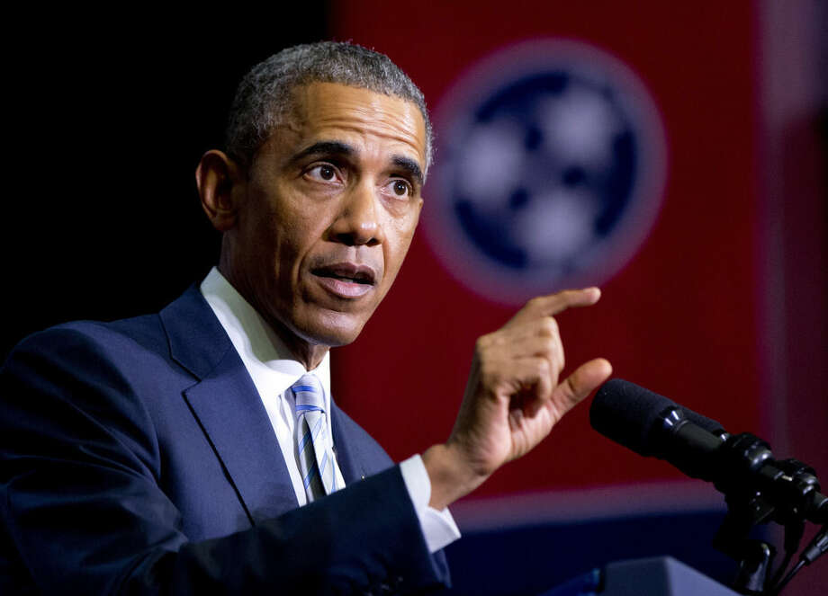 File-This Jan. 9, 2015, file photo shows President Barack Obama speaking at Pellissippi State Community College, in Knoxville, Tenn. President Obama is turning to his biggest television audience of the year to pitch tax increases on the wealthiest Americans and put the new Republican Congress in the position of defending top income earners over the middle class. (AP Photo/Carolyn Kaster, File)