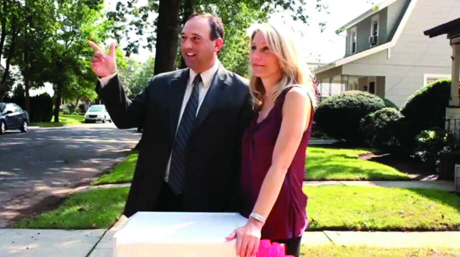 """www.cbs.comActor and lawyer Robert Sciglimpaglia of Norwalk is pictured here in the 2012 Chevy """"Happy Grad"""" commercial aired during the Super Bowl."""