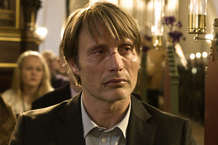 "This image released by Magnolia Pictures shows Mads Mikkelsen in a scene from ""The Hunt"" (Jagten). The film was nominated for an Academy Award for best foreign picture on Thursday, Jan. 16, 2014. The 86th Academy Awards will be held on March 2. (AP Photo/Magnolia Pictures)"