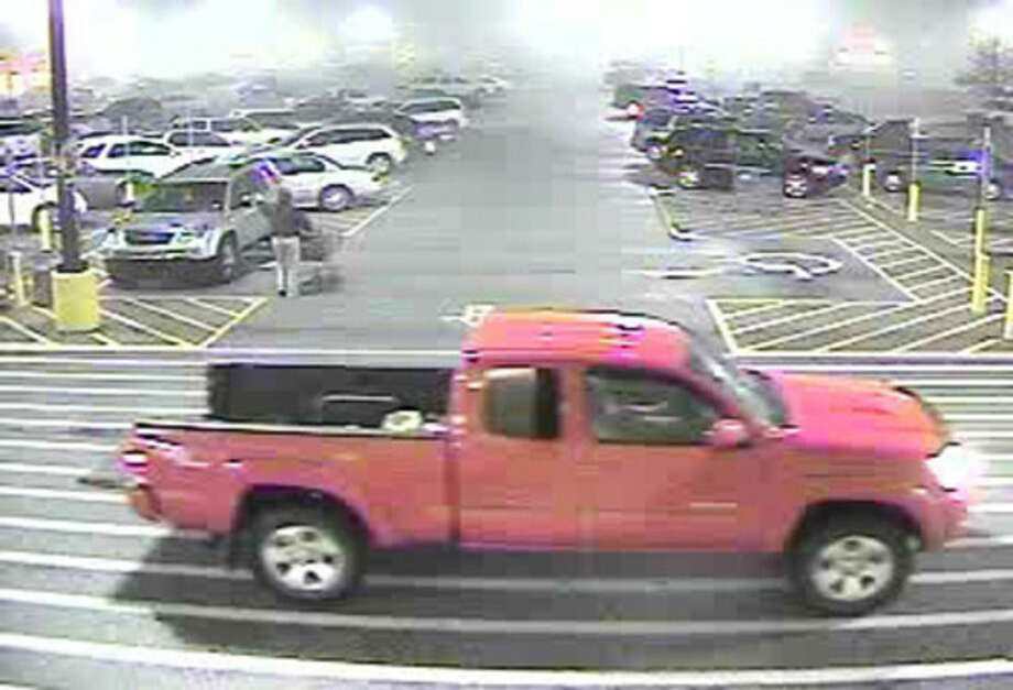 In this January 2015 photo made from surveillance video and released by the Grayson County Sheriff's Office, in Kentucky, 18-year-old Dalton Hayes and 13-year-old Cheyenne Phillips drive in the parking lot of a South Carolina Wal-Mart. Authorities are looking for the teenage couple from central Kentucky who are suspected in a multistate crime spree. (AP Photo/Wal-Mart Inc. via The Grayson County (Ky.) Sheriff's Office)