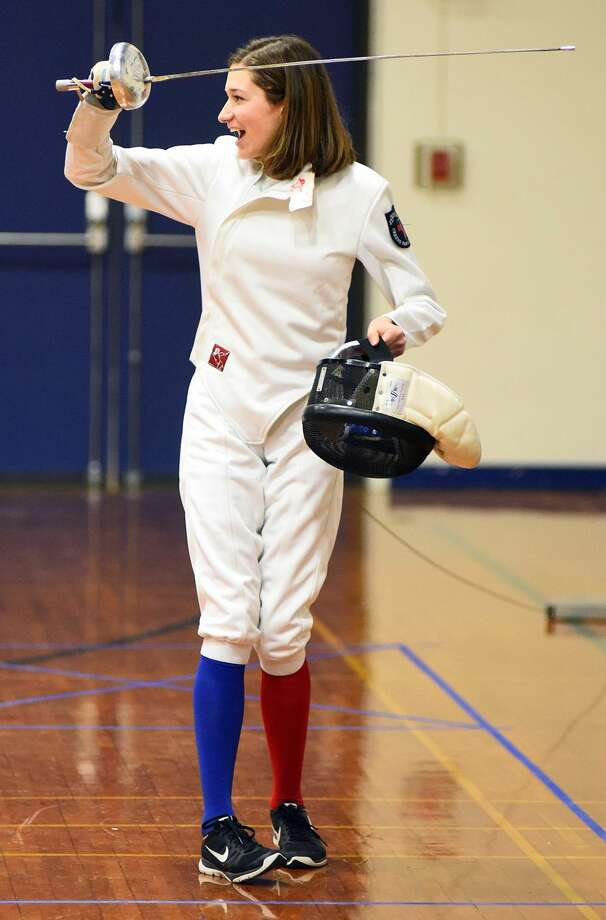 Hour photo/John Nash - Greens Farms Academy hosted Masters School in a fencing competition last week in Westport.