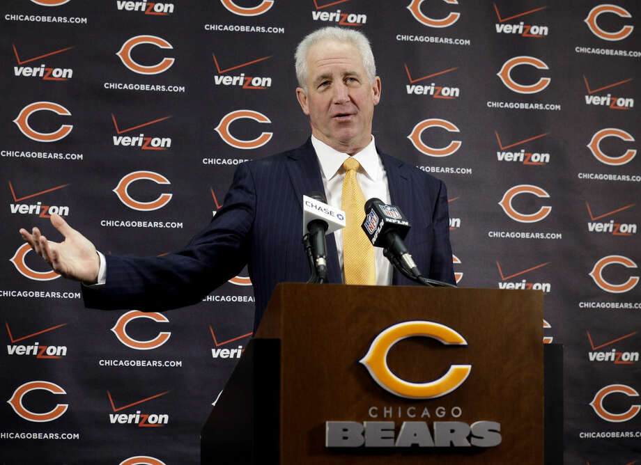 Chicago Bears NFL football team new head coach John Fox speaks at a news conference at Halas Hall in Lake Forest, Ill., Monday, Jan. 19, 2015. Fox has signed a four-year deal to become the team's 15th head coach in franchise history. (AP Photo/Nam Y. Huh)