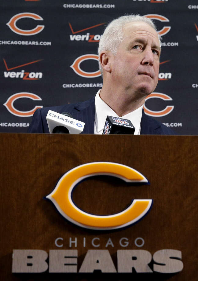 Chicago Bears NFL football team new head coach John Fox listens to a question at a news conference at Halas Hall in Lake Forest, Ill., Monday, Jan. 19, 2015. Fox has signed a four-year deal to become the team's 15th head coach in franchise history. (AP Photo/Nam Y. Huh)