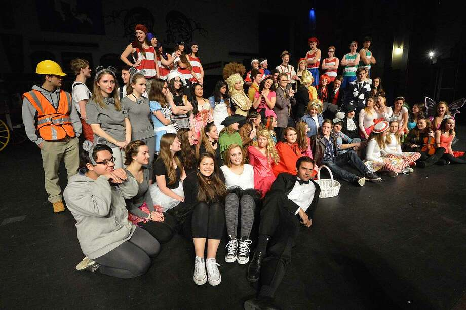 "he cast of Wilton High School's Senior Show, ""Law and Order: Fairy Tale Unit."""