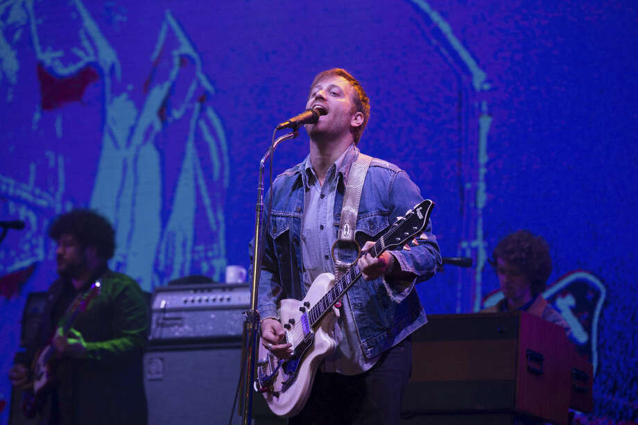 FILE - In this June 12, 2015, file photo, Dan Auerbach of The Black Keys performs at the Isle of Wight Festival in Newport, Isle of Wight, England. Special guests at this year's 2016 Rock and Roll Hall of Fame Induction Ceremony will include The Black Keys, Rob Thomas and Metallica's Lars Ulrich. (Photo by Jim Ross/Invision/AP, File)