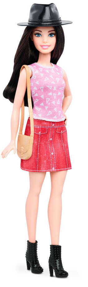 This photo provided by Mattel shows a new, petite Barbie Fashionista doll introduced in January 2016. Mattel, the maker of the famous plastic doll, said it will start selling Barbie's in three new body types: tall, curvy and petite. She'll also come in seven skin tones, 22 eye colors and 24 hairstyles. (Mattel via AP)