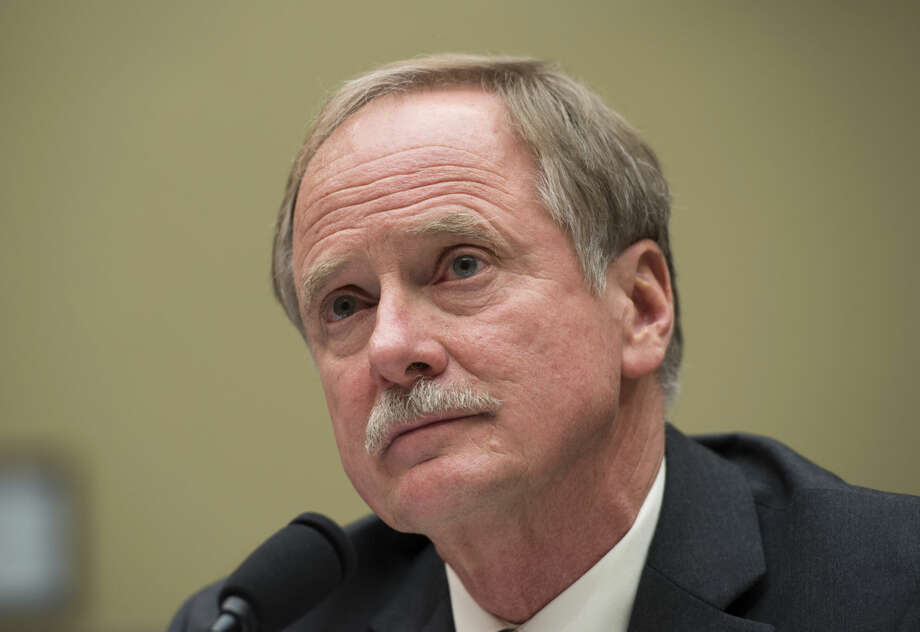 Keith Creagh, director, Department of Environmental Quality, State of Michigan, testifies on Capitol Hill in Washington, Wednesday, Feb. 3, 2016, before the House Oversight and Government Reform Committee hearing to examine the ongoing situation in Flint, Mich. Michigan should have required the city of Flint to treat its water for corrosion-causing elements after elevated lead levels were first discovered in the city's water a year ago, the state's top environmental regulator says in testimony prepared for congressional hearing. (AP Photo/Molly Riley)