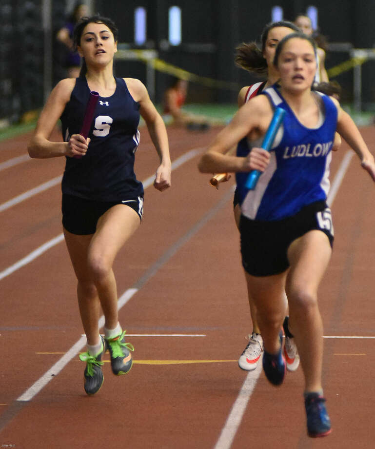 Hour photo/John Nash - Photos from Thursday night's FCIAC Indoor Track Championship meet in New Haven.