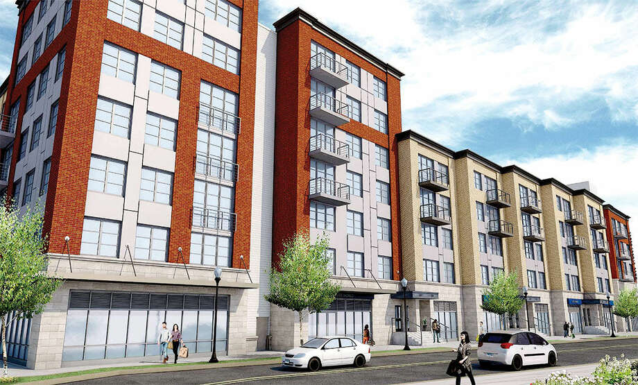 Contributed renderingA undated rendering of POKO Partner's Wall Street Place shows the Isaac Street side the Norwalk development that was approved Wednesday night by the Zoning Commission.
