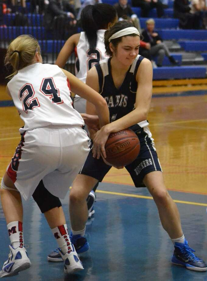 Staples defeated Brien McMahon, 62-40, in girls basketball action on January, 22, 2015 at Brien McMahon. (Hour Photo/Pete Paguaga)